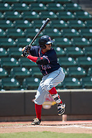 Chris Madera (26) of the Salem Red Sox at bat against the Winston-Salem Dash at BB&T Ballpark on July 23, 2017 in Winston-Salem, North Carolina.  The Dash defeated the Red Sox 11-10 in 11 innings.  (Brian Westerholt/Four Seam Images)