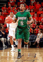 CHARLOTTESVILLE, VA- NOVEMBER 26:  Terry Johnson #2 of the Green Bay Phoenix handles the ball during the game on November 26, 2011 at the John Paul Jones Arena in Charlottesville, Virginia. Virginia defeated Green Bay 68-42. (Photo by Andrew Shurtleff/Getty Images) *** Local Caption *** Terry Johnson