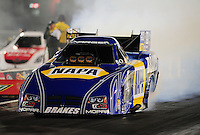 Sept. 16, 2011; Concord, NC, USA: NHRA funny car driver Ron Capps during qualifying for the O'Reilly Auto Parts Nationals at zMax Dragway. Mandatory Credit: Mark J. Rebilas-US PRESSWIRE