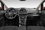 Stock photo of straight dashboard view of 2015 Ford C Max Titanium 5 Door Mini Mpv Dashboard