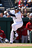 March 5, 2010:  Carlos Guillen of the Detroit Tigers during a Spring Training game at Joker Marchant Stadium in Lakeland, FL.  Photo By Mike Janes/Four Seam Images