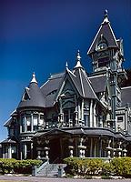 Carson Mansion, Eureka California, 1975. Photo by John G. Zimmerman