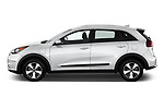 Car driver side profile view of a 2017 KIA Niro LX PHEV 5 Door Hatchback