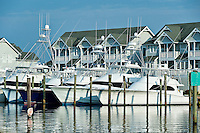Waterfront houses, Sailfish Point, Roanoke Island on North Carolina