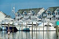 Waterfront houses, Sailfish Point, Roanoke Island on North Carolina