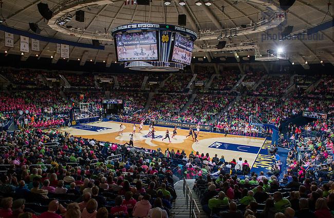 Feb. 9, 2014; Pink Zone game vs Syracuse. Notre Dame won 101-64.<br /> <br /> Photo by Matt Cashore/University of Notre Dame
