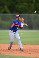 New York Mets Luis Guillorme (17) during practice before a minor league spring training game against the St. Louis Cardinals on April 1, 2015 at the Roger Dean Complex in Jupiter, Florida.  (Mike Janes/Four Seam Images)