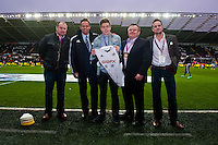 Saturday 8th Febuary 2014<br /> Pictured: <br /> Re: Barclays Premier League Swansea City FC  v Cardiff City FC at the Liberty Stadium, Swansea