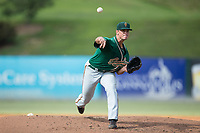 Greensboro Grasshoppers relief pitcher Reilly Hovis (41) delivers a pitch to the plate against the Kannapolis Intimidators at Kannapolis Intimidators Stadium on August 13, 2017 in Kannapolis, North Carolina.  The Grasshoppers defeated the Intimidators 4-1 in 10 innings in the completion of a game suspended on August 12, 2017.  (Brian Westerholt/Four Seam Images)