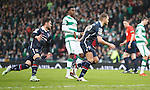 Martin Woods scores from the penalty spot for Ross County and wheels away to celebrate