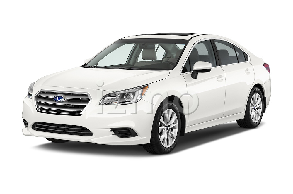 2015 Subaru Legacy 2.5i Premium 4 Door Sedan Angular Front stock photos of front three quarter view
