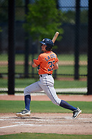 Houston Astros Jonathan Lacroix (35) bats during a Minor League Spring Training Intrasquad game on March 28, 2019 at the FITTEAM Ballpark of the Palm Beaches in West Palm Beach, Florida.  (Mike Janes/Four Seam Images)