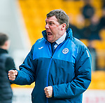 St Johnstone v Partick Thistle…13.05.17     SPFL    McDiarmid Park<br />Tommy Wright celebrates<br />Picture by Graeme Hart.<br />Copyright Perthshire Picture Agency<br />Tel: 01738 623350  Mobile: 07990 594431