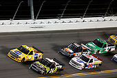 NASCAR Camping World Truck Series<br /> NextEra Energy Resources 250<br /> Daytona International Speedway, Daytona Beach, FL USA<br /> Friday 16 February 2018<br /> Justin Haley, GMS Racing, Fraternal Order Of Eagles Chevrolet Silverado David Gilliland, Kyle Busch Motorsports, Pedigree Toyota Tundra<br /> World Copyright: Matthew T. Thacker<br /> LAT Images