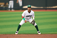 Beloit Snappers shortstop Ynmanol Marinez (13) during a game against the Peoria Chiefs on August 18, 2021 at ABC Supply Stadium in Beloit, Wisconsin.  (Mike Janes/Four Seam Images)