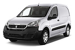 2015 Peugeot Partner - 4 Door Car Van Angular Front stock photos of front three quarter view