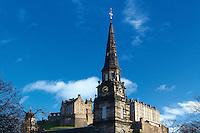 St Cuthbert's Church and Edinburgh Castle, Princes Street Gardens, Edinburgh, Lothian