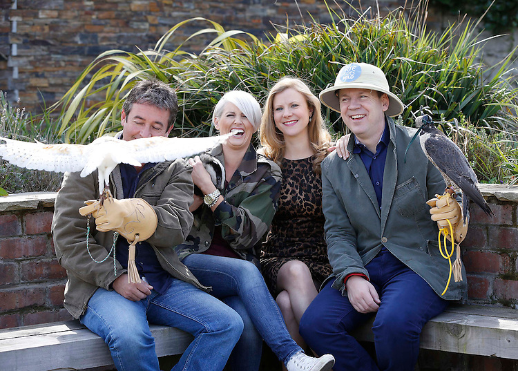 No Repro Fee..Colin Stafford-Johnson (left) with Sinead Kennedy, Nuala Carey and Derek Mooney (right), pictured today at the launch of RTÉ Goes Wild. Throughout May, RTÉ Goes Wild marks the changing seasons with a month-long celebration of Ireland's nature and wildlife on TV, Radio, Online and Mobile. Pic. Robbie Reynolds.