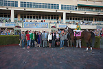 Connections of Palace Malice after winning the Gulfstream Park Handicap (G2). Gulfstream Park, Hallandale Beach Florida. 02-08-2014