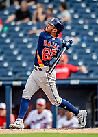 27 February 2019: Houston Astros infielder Josh Rojas in pre-season action against the Washington Nationals at the Ballpark of the Palm Beaches in West Palm Beach, Florida. The Nationals defeated the Astros 14-8 in their Spring Training Grapefruit League matchup. Mandatory Credit: Ed Wolfstein Photo *** RAW (NEF) Image File Available ***