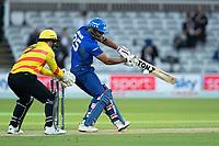 Ravi Bopara, London Spirit plays backward of point during London Spirit Men vs Trent Rockets Men, The Hundred Cricket at Lord's Cricket Ground on 29th July 2021