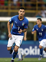 Football: Uefa European under 21 Championship 2019, Italy - Spain Renato Dall'Ara stadium Bologna Italy on June16, 2019.<br /> Italy's Lorenzo Pellegrini celebrates after scoring during the Uefa European under 21 Championship 2019 football match between Italy and Spain at Renato Dall'Ara stadium in Bologna, Italy on June16, 2019.<br /> UPDATE IMAGES PRESS/Isabella Bonotto