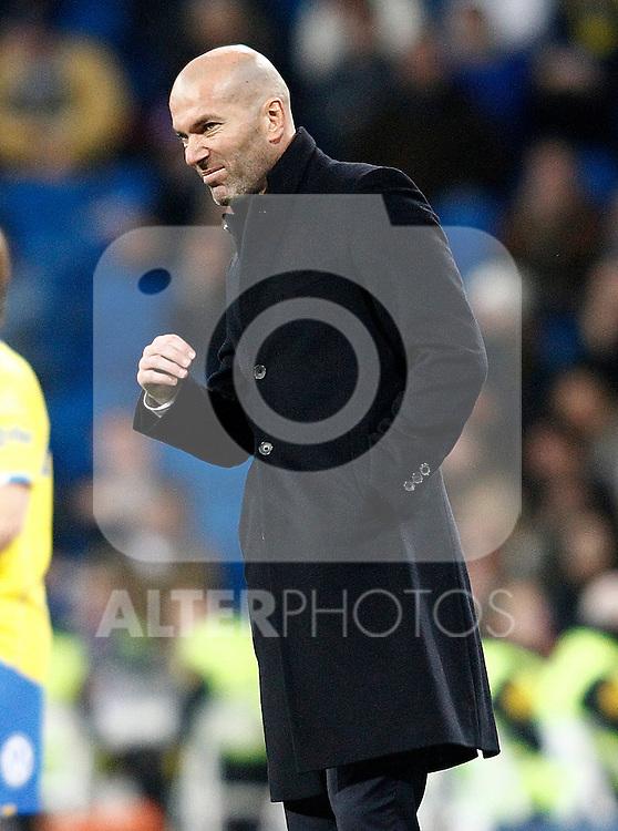 Real Madrid's coach Zinedine Zidane during La Liga match. March 1,2017. (ALTERPHOTOS/Acero)