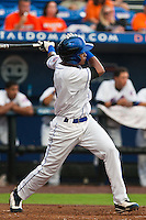 Gilbert Gomez #3 of the St. Lucie Mets during game 3 of the Florida State League Championship Series against the Daytona Cubs at Digital Domain Park on Spetember 11, 2011 in Port St. Lucie, Florida. Daytona won the game 4-2 to win the Florida State League Championship.  Photo by Scott Jontes / Four Seam Images