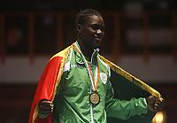 8e Jeux de la Francophonie d'Abidjan 2017 - Finales lutte - Parc des sports de Treichville - Anta Sambou du Sénégal elle est médaillé d'0R - Abidjan, Côte d'Ivoire - 24 juillet 2017