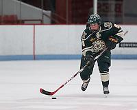Boston, Massachusetts - January 25, 2015: NCAA Division I. Boston University defeated University of Vermont, 9-2, at Walter Brown Arena.