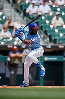 Buffalo Bisons Anthony Alford (26) at bat during an International League game against the Lehigh Valley IronPigs on June 9, 2019 at Sahlen Field in Buffalo, New York.  Lehigh Valley defeated Buffalo 7-6 in 11 innings.  (Mike Janes/Four Seam Images)