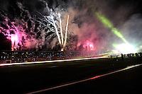 BOGOTA – COLOMBIA -  23-05-2014: Fuegos artificiales durante fiesta de despedida de la Selección Colombia en el estadio Nemesio Camacho el Campin de la ciudad de Bogota, Colombia parte hacia La copa Mundo Brasil 2014.  / Fireworks during a farewell party of the Colombia Team at the stadium Nemesio Camacho El Campin stadium in Bogota city, Colombia travels to the World Cup Brazil 2014. Photo: VizzorImage / Luis Ramirez / Staff.