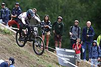 29th August 2021; Commezzadura, Trentino, Italy; 2021 Mountain Bike Cycling World Championships, Val di Sole; Downhill; Downhill final men, Joe Breeden (GBR)
