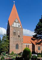 Dorfkirche in Proseken, erbaut 1240, Mecklenburg-Vorpommern, Deutschland