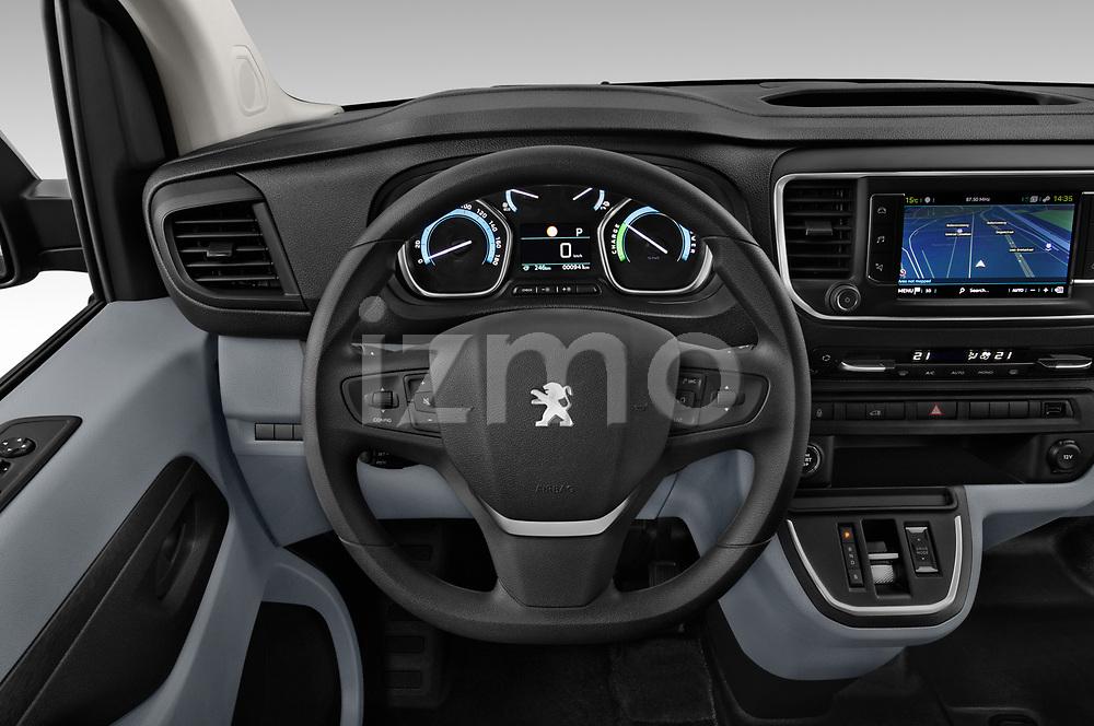 Car pictures of steering wheel view of a 2020 Peugeot e-Expert FT-Premium 5 Door Cargo Van Steering Wheel