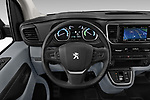 Car pictures of steering wheel view of a 2020 Peugeot e-Expert FT-Premium 5 Door Cargo Van Steering Wheel