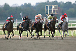 03 October 2009 CAPTION: Start of the Grade II Fitz Dixon Cotillion Stakes at Philadelphia Park Race Track: from left, Mary's Follies, Bon Jovi Girl, Just Jenda, Key Lime Baby, Cat Moves, and Careless Jewel, who won the race.