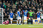 St Johnstone v Celtic…07.10.18…   McDiarmid Park    SPFL<br />A dreadful defensive display, Joe Shaughnessy and David Wotherspoon hold their heads after conceding a fith goal<br />Picture by Graeme Hart. <br />Copyright Perthshire Picture Agency<br />Tel: 01738 623350  Mobile: 07990 594431