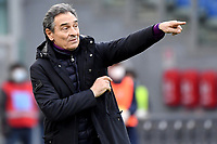 Cesare Prandelli coach of ACF Fiorentina reacts during the Serie A football match between SS Lazio and ACF Fiorentina at Olimpico stadium in Roma (Italy), January 6th, 2021. Photo Andrea Staccioli / Insidefoto