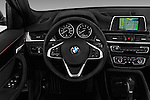 Car pictures of steering wheel view of a 2017 BMW X1 xDrive28i 5 Door SUV Steering Wheel