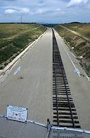 TGV railroad track under construction, France.