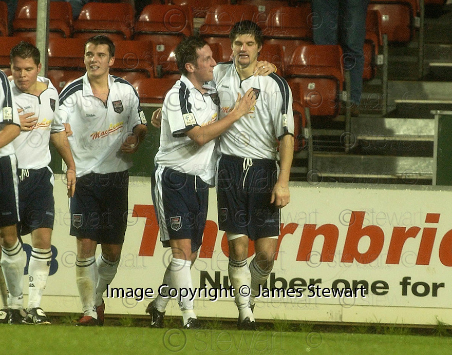 28/11/2004  Copyright Pic : James Stewart.File Name : jspa03_falkirk_v_ross_county.STUART MALCOLM CELEBRATES SCORING COUNTY'S SECOND.......Payments to :.James Stewart Photo Agency 19 Carronlea Drive, Falkirk. FK2 8DN      Vat Reg No. 607 6932 25.Office     : +44 (0)1324 570906     .Mobile   : +44 (0)7721 416997.Fax         : +44 (0)1324 570906.E-mail  :  jim@jspa.co.uk.If you require further information then contact Jim Stewart on any of the numbers above.........