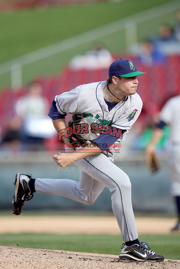 April 17 2010: Tyler Kehrer of the Cedar Rapids Kernels at Elfstrom Stadium in Geneva, IL. The Kernels are the Low A affiliate of the Los Angeles Angels. Photo by: Chris Proctor/Four Seam Images