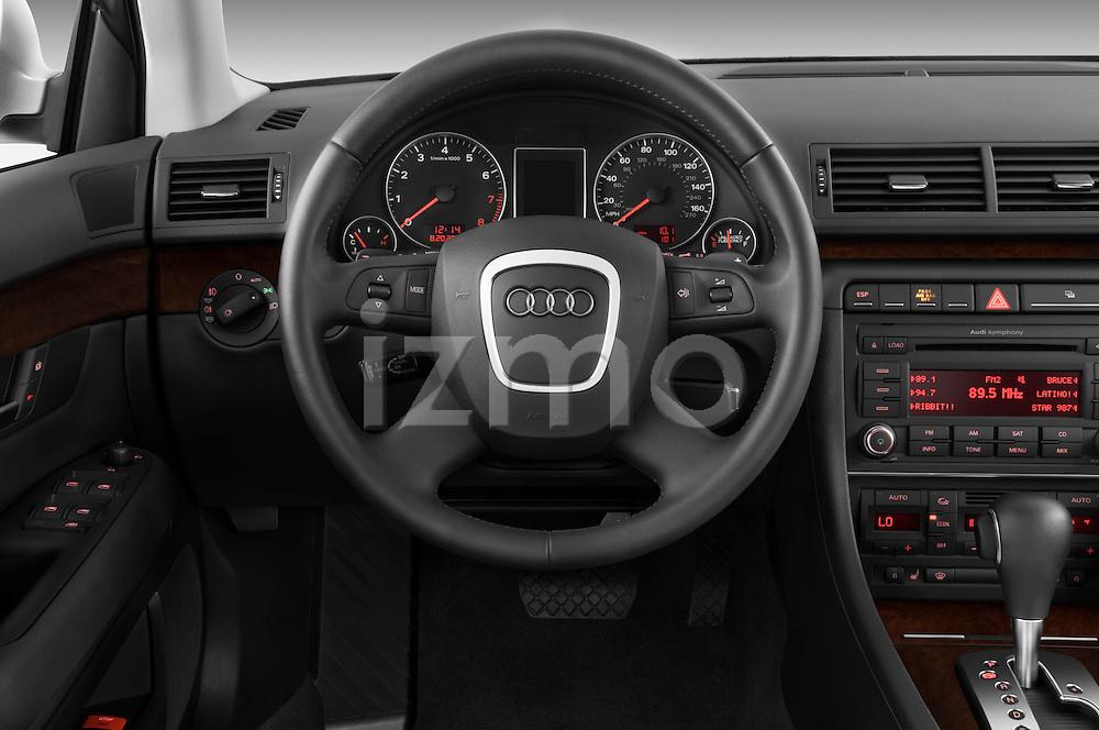 Steering wheel view of a 2005 - 2008 Audi A4 3.2 Sedan.
