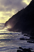 Water crashing against Mokapuu point, Oahu