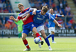 St Johnstone v Rangers... 30.07.11   SPL Week 2.Steven Davis battles with Cillian Sheridan.Picture by Graeme Hart..Copyright Perthshire Picture Agency.Tel: 01738 623350  Mobile: 07990 594431