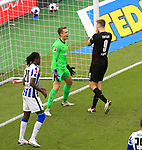 17.10.2020, OLympiastadion, Berlin, GER, DFL, 1.FBL, Hertha BSC VS. VfB Stuttgart, <br /> DFL  regulations prohibit any use of photographs as image sequences and/or quasi-video<br /> im Bild Alexander Schwolow (Hertha BSC Berlin #1),  Dedryck Boyata (Hertha BSC Berlin #20),<br /> Sasa Kalajdzic (VfB Stuttgart #9)<br /> <br />     <br /> Foto © nordphoto /  Engler