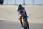 Patrick Konrad (AUT) Bora-Hansgrohe during Stage 2 of the 2021 UAE Tour an individual time trial running 13km around  Al Hudayriyat Island, Abu Dhabi, UAE. 22nd February 2021.  <br /> Picture: Eoin Clarke | Cyclefile<br /> <br /> All photos usage must carry mandatory copyright credit (© Cyclefile | Eoin Clarke)