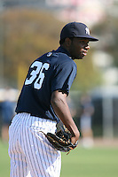 March 17th 2008:  Wilkin DeLaRosa of the New York Yankees minor league system during Spring Training at Legends Field Complex in Tampa, FL.  Photo by:  Mike Janes/Four Seam Images