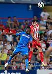 Getafe CF's Djene Dakoman (l) and Atletico de Madrid's Jose Maria Gimenez during friendly match. August 11,2017. (ALTERPHOTOS/Acero)